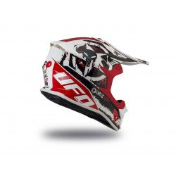 Casque UFO Intrepid Matt White/Red/Black taille XS