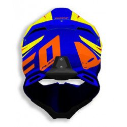Casque UFO Diamond bleu/jaune/orange taille M