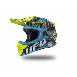 Casque UFO Intrepid Matt Black/Blue/Neon Yellow taille XL