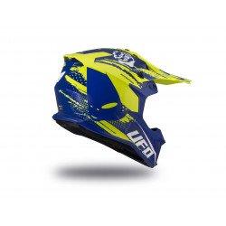 Casque UFO Intrepid bleu/jaune fluo taille S