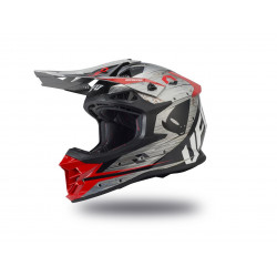 Casque UFO Intrepid gris/rouge taille L