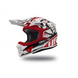 Casque UFO Intrepid Matt White/Red/Black taille XL
