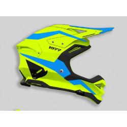 Casque UFO Diamond jaune fluo/bleu taille S
