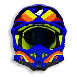 Casque UFO Diamond bleu/jaune/orange taille S
