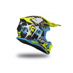 Casque UFO Intrepid Matt Black/Blue/Neon Yellow taille XS