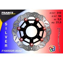 Disque de frein Gamme Silver F100502R.00A0 / Oeillets Couleurs