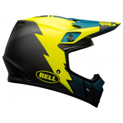 Casque BELL MX-9 Mips Strike Matte Blue/Yellow taille M