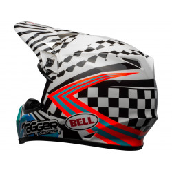 Casque BELL MX-9 Mips Check Me Out Gloss Black/White taille S
