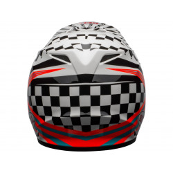 Casque BELL MX-9 Mips Check Me Out Gloss Black/White taille L