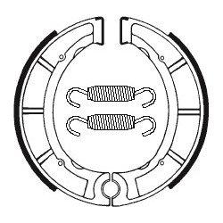 Machoires de frein TECNIUM BA035 organique