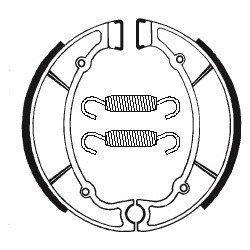 Machoires de frein TECNIUM BA064 organique