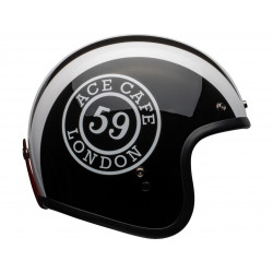 Casque BELL Custom 500 DLX Ace Cafe 59 Gloss Black/White taille M
