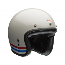 Casque BELL Custom 500 DLX Stripes Pearl White taille L