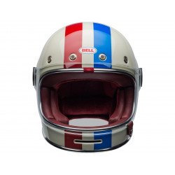 Casque BELL Bullitt DLX Command Gloss Vintage White/Red/Blue taille M