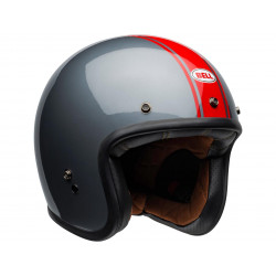 Casque BELL Custom 500 DLX Rally Gloss Gray/Red taille S