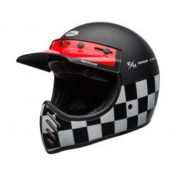 Casque BELL Moto-3 Fasthouse Checkers Matte/Gloss Black/White/Red taille XXL