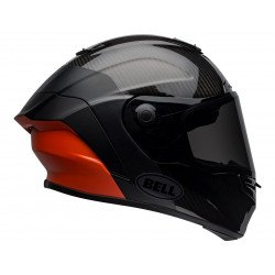 Casque BELL Race Star Flex DLX Carbon Lux Matte/Gloss Black/Orange taille XL