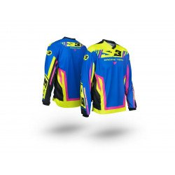 Maillot S3 Racing Team rose/bleu taille M
