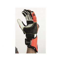 Gants RST Tractech Race CE cuir rouge fluo taille M/09 homme
