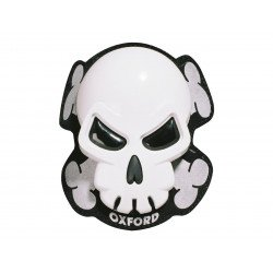 Sliders de genou OXFORD Skull blanc