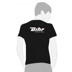 T-SHIRT BIHR NOIR POWERING YOUR PASSION TAILLE S