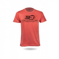 T-Shirt S3 Casual Racing rouge taille S