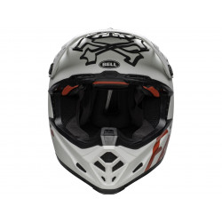 Casque BELL Moto-9 Flex Fasthouse WRWF Matte Gloss White/Red Size XL