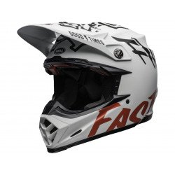 Casque BELL Moto-9 Flex Fasthouse WRWF Matte Gloss White/Red Size XXL