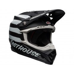 Casque BELL Moto-9 Mips Fasthouse Signia Matte Black/Chrome taille XS