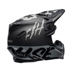 Casque BELL Moto-9 Flex Fasthouse WRWF Black/White/Gray taille S