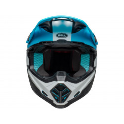 Casque BELL Moto-9 Mips Prophecy Matte White/Black/Blue taille S