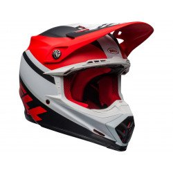 Casque BELL Moto-9 Mips Prophecy Matte White/Red/Black taille XL