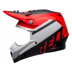 Casque BELL Moto-9 Mips Prophecy Matte White/Red/Black taille L