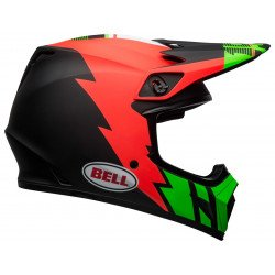 Casque BELL MX-9 Mips Strike Matte Infrared/Green/Black taille XS