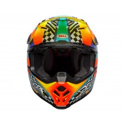 Casque BELL Moto-9 Mips Tagger Breakout Orange/Yellow taille L