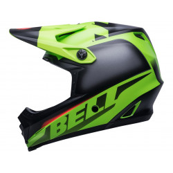 Casque BELL Moto-9 Youth Mips Glory Green/Black/Infrared taille YL/YXL