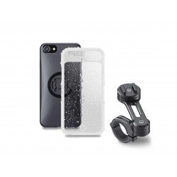 Pack complet SP-CONNECT Moto Bundle fixé sur guidon iPhone 8/7/6S/6