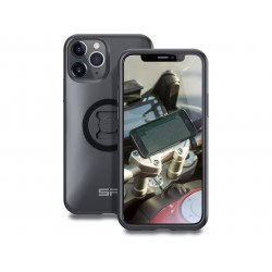 Pack complet SP-CONNECT Moto Bundle fixé sur guidon iPhone 11 Pro
