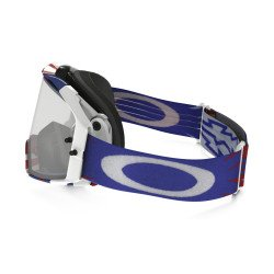 Masque OAKLEY Airbrake MX High Voltage RWB blanc écran transparent