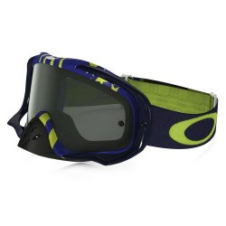 Masque OAKLEY Crowbar MX Flight Series Sunday Punchers bleu/vert écran Dark Grey