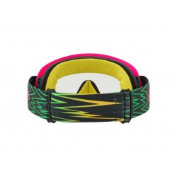 Masque OAKLEY O Frame MX Shockwave Pink/Yellow/Green écran transparent