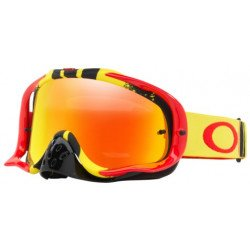 Masque OAKLEY Crowbar MX Pinned Race Yellow/Red écran Fire Iridium