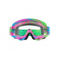 Masque OAKLEY XS O Frame MX High Voltage Pink/Blue écran transparent