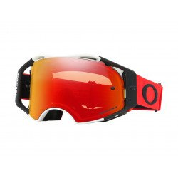 Masque OAKLEY Airbrake MX rouge/noir écran Prizm MX Torch Iridium