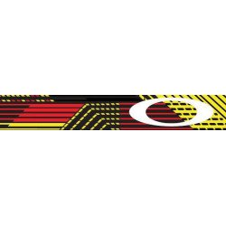 Masque OAKLEY Crowbar MX Circuit Red/Yellow écran Fire Iridium + transparent