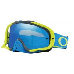 Masque OAKLEY Crowbar MX bleu/vert écran Black Ice Iridium + transparent