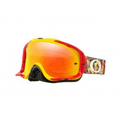 Masque OAKLEY Crowbar MX Camo Vine Jungle Red/Yellow écran Fire Iridium + transparent