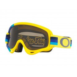 Masque OAKLEY XS O Frame MX Troy Lee Designs Pre-Mix Yellow Blue écran Dark Grey