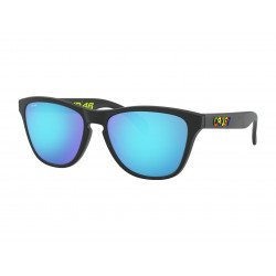 Lunettes de soleil OAKLEY Frogskins® XS Valentino Rossi Signature Series (Youth Fit) Polished Black verres PRIZM™ Sapphire