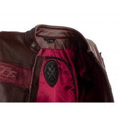 Blouson RST Brandish CE cuir rouge taille M homme